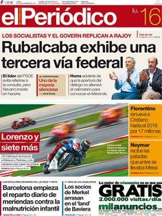 Los Titulares y Portadas de Noticias Destacadas Españolas del 16 de Septiembre de 2013 del Diario El Periódico ¿Que le pareció esta Portada de este Diario Español?