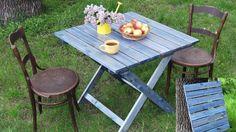 Originálne skladacie záhradný stôl