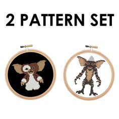 Gizmo & Stripe Gremlin Set Film Movie Cross by spotyourcolors Cross Stitch Patterns, Stitching Patterns, Gremlins, Film Movie, Digital Pattern, Cross Stitching, Needlepoint, Sewing Crafts, Embroidery