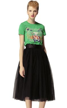rock a tee and flare skirt
