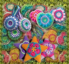 Stitched Musings: PuffyStuff Package Deal https://www.etsy.com/listing/159273461/crochet-star-pattern-amigurumi-heart?ref=shop_home_active