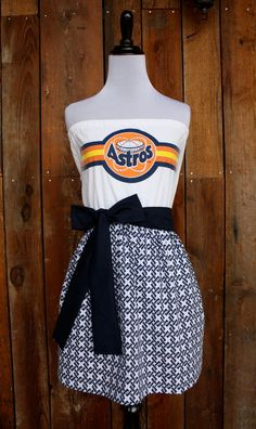 84f9a65528a Houston Astros Baseball Game Day Dress - Size Small. Etsy