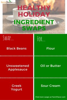 Healthy ingredient swaps for holiday baking!