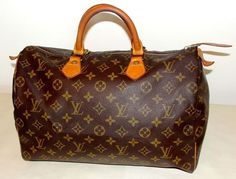 Vintage Louis Vuitton Louis Vuitton Bag Speedy 35 LV Monogram Boston Doctor Satchel Handbag