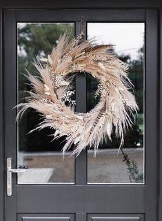 Diy Fall Wreath, Fall Wreaths, Summer Wreath, Christmas Wreaths, Prim Christmas, Wreath Ideas, Xmas, Dried Flower Wreaths, Dried Flowers
