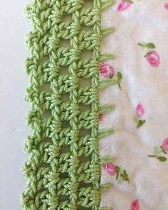 New crochet edging and borders ideas receiving blankets 70 Ideas Crochet Puff Flower, Crochet Flower Patterns, Crochet Designs, Crochet Flowers, Pattern Designs, Crochet Shell Stitch, Bead Crochet, Diy Crochet, Crochet Geek