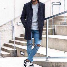 14 Amazing streetstyle looks! Three Best Friends, Men With Street Style, Work Wear, Street Wear, Normcore, Mens Fashion, Coat, Amazing, Casual