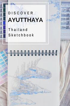 A creative way to collect and preserve travel memories: A travel sketchbook! I combine my journal and diary for traveling with more elaborate sketches. To illustrate my trip to Thailand - and the ruins of Ayutthaya - I went all out with my watercolors and detailed landscape paintings. Follow me as I discover Thailand through my sketchbook! #travelsketch #thailand #travelblogger