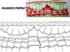 Aprenda a pintar em tecido no meu canal no youtube e imprima os riscos aqui Parchment Craft, Fabric Painting, Paper Cutting, Diy Tutorial, Little Boys, Valance Curtains, Decoupage, Diy And Crafts, Outdoor Blanket
