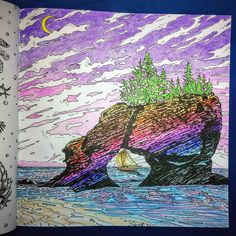 Bay Of Fundy Coloured By Carrie Wong From Legendary Worlds Adult Coloring Book