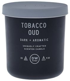 DW Home Tobacco Oud Scented Candle in a Glass Jar with a Rubber Lid ** Continue to the product at the image link. (This is an affiliate link) Candle Labels, Candle Jars, Mason Jars, Glass Candle, Candle Holders, Tip Jars, Luxury Candles, Candle Making, Scented Candles