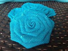 Six Teal Burlap Flowers by SimplySouthernCrafts on Etsy $10.00