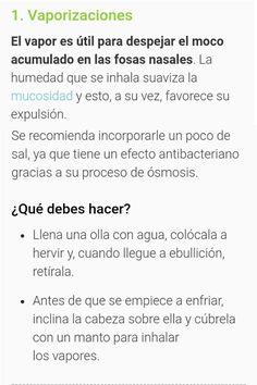 Sinusitis Vaporizaciones con sal Paranasal Sinuses, Remedies, Grief, Health