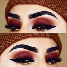 35 Red Eye Makeup Looks Beautiful for Women /. - 35 Red Eye Makeup Looks Beautiful for Women /. Eye Makeup Glitter, Red Eye Makeup, Cute Makeup, Gorgeous Makeup, Pretty Makeup, Skin Makeup, Eyeshadow Makeup, Gold Eyeshadow, Glitter Eyebrows