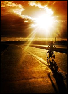 Bikeride sunshine