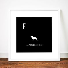French Bulldog print poster art Frenchie by WeaversofSouthsea, $19.00