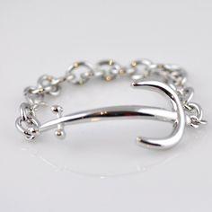 Silver Anchor Bracelet #nautical