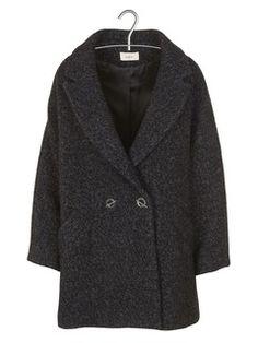 Manteau oversize en laine mélangée Ming Noir by BA & SH