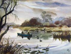 John Pike watercolor.