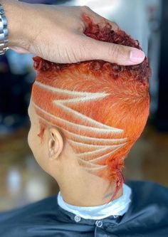Dope Hairstyles, Shaved Hairstyles, Short Hair Designs, Short Hair Styles, Haircut Designs, Big Chop, Short Cuts, Cut And Color, Shaving