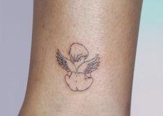 Simple Angel Tattoos, Cute Simple Tattoos, Dainty Tattoos, Baby Tattoos, Unique Tattoos, Small Tattoos, Simple Line Tattoo, Cute Tats, Pretty Tattoos