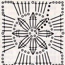 Crochet Earrings Pattern, Crochet Motif Patterns, Crochet Blocks, Granny Square Crochet Pattern, Crochet Diagram, Crochet Chart, Crochet Squares, Crochet Granny, Crochet Doilies