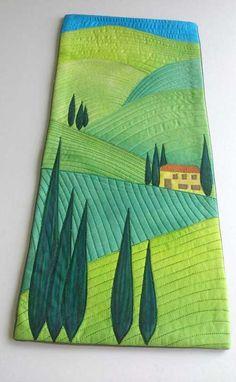 Designer Quilt Pattern - Tuscan Hillside Quilt Pattern