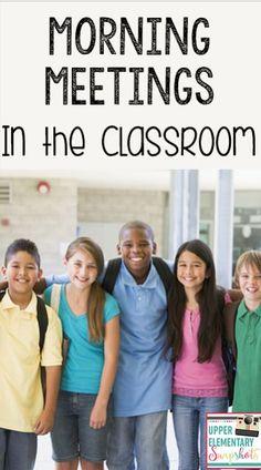 Upper Elementary Snapshots: Morning Meetings in the Classroom Responsive Classroom, School Fundraisers, Classroom Meeting, 5th Grade Classroom, Classroom Behavior, Classroom Community, Classroom Setup, Classroom Management, Classroom Organization