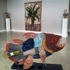 Coelocanth 2013 Textile Sculpture, Wire Art, South Africa, Fiber, Sculptures, Felt, Textiles, How To Make, Home Decor