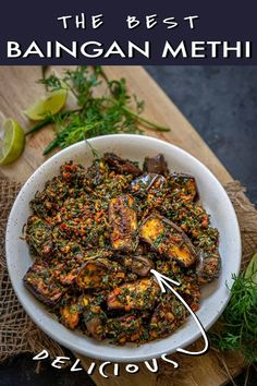 Indian Food Recipes, Asian Recipes, Methi Recipes, Sabzi Recipe, Taste Made, 2000 Calorie Diet, Middle Eastern Recipes, Indian Dishes, Eggplant