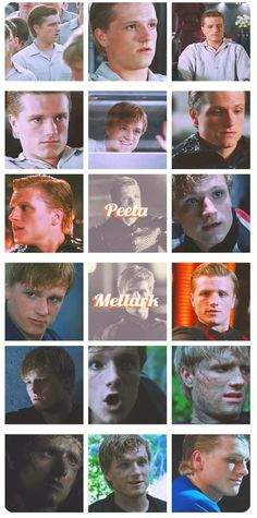 He only smiles in three of these many pictures of him and only one of them is truly real when he is with Katniss - the capital has even taken that away from him- but Peeta manages to get back all that the capital took- Peeta is not gone-
