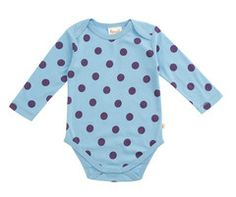 These little cute baby body's are perfect for layering up with any tshirts, little leggings and are super easy to pop on. The polka dot design brightens up your day with it's gorgeous Cornish Blue colour. How could you resist?