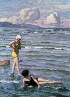Paul Fischer (1860 - 1934) - Girls Bathing (20th century) - London, Private Collection Connaught Brown