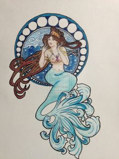 Mermaids tattoo idea