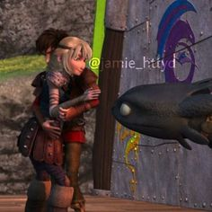 Hiccstrid and Toothless. :)
