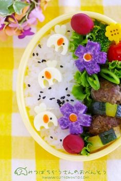 Honey Bee Elephants Bento. #bento