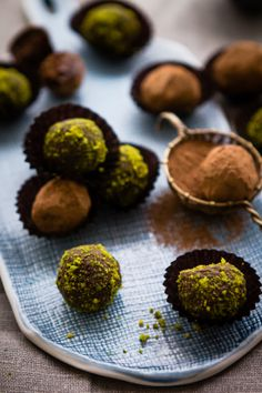 Sips and Spoonfuls: Chocolate Pistachio and Orange Blossom Water Truffles