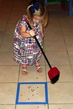Sweeping can become a game too. | 26 Simple Tricks To Make Your Kids Do Whatever You Want