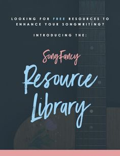 "Finally, an inspirting collection of free resources for badass contemporary songwriters! Songwriting tips, songwriting exercises, templates, and more! All for free and all for SongFancy Members. Click through this pin to sign up! ""Resource Library for Songwriters"" 