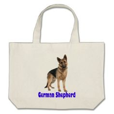 German Shepherd Puppy Dog Canvas Grocery Tote Bag - dog puppy dogs doggy pup hound love pet best friend