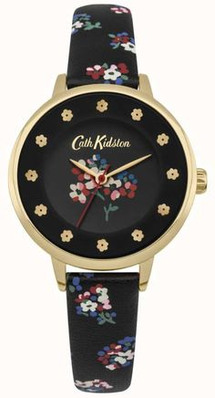 The Black Dial Floral Prints Flower Hour Markers Gold 47fd8531f4c