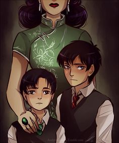 Young Sirius and Regulus and their mother.