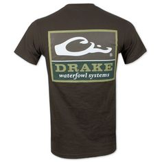 Drake Waterfowl Systems Square Logo T-Shirt - Brown