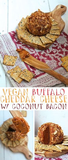 Make your next party great with this vegan Buffalo Cheddar Cheese Ball covered in coconut bacon Cli Make your next party great with this vegan Buffalo Cheddar Cheese Ball covered in coconut bacon Cli Yesenia Sebastian prietitas nbsp hellip Cheese Ball Delicious Vegan Recipes, Healthy Dessert Recipes, Vegan Desserts, Raw Food Recipes, Amazing Recipes, Tasty, Vegan Finger Foods, Vegan Foods, Vegan Snacks