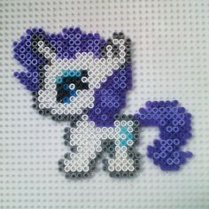 MLP Rarity hama beads by hadavedre