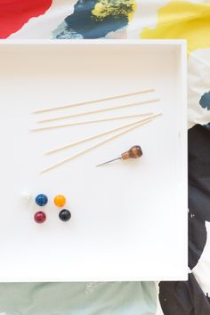 Easy Brunch DIY project: Colorful Gumball Drink Stirrers