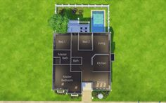 Sims 4 Homes — Lissette Dwelling 30 x 20 Family Home bed - sims houses - Familie Easy Minecraft Houses, Minecraft Houses Blueprints, House Blueprints, Sims 4 House Plans, Sims 4 House Building, House Floor Plans, Sims 4 Houses Layout, House Layouts, Casas The Sims Freeplay