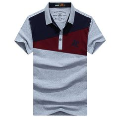 Summer Hit Color Turn-down Collar Short Sleeve Casual Polo Shirt for Men Sports Polo Shirts, Cheer Shirts, Golf Shirts, Polo Collar Shirts, T Shirt Vest, T Shirt Diy, Camisa Floral, One Direction Shirts, Polo Outfit