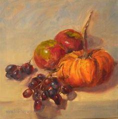 "Daily Paintworks - ""Fall Harvest"" - Original Fine Art for Sale - © Lina Ferrara"