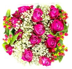 We work directly with the Rose Farm in Ecuador to create these elegant arrangements. Roses are prepped and arranged on the farm and sent directly to your door in 3 days. Each arrangement comes with 12 Premium 24 inch long stem roses mixed with Ecualiptis Gypso, Hypericum, Soldago or Lilies. Please note: Orders Must be placed at least 5 days prior to delivery.